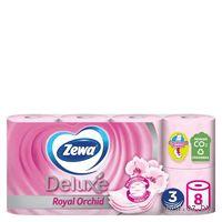 """Туалетная бумага Zewa Deluxe """"Орхидея""""(8 рулонов)"""