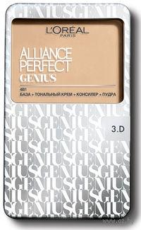 """Тональное средство """"Alliance Perfect Genius 4в1"""" (тон 3D, золотисто-бежевый; 7 г)"""