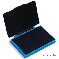 Штемпельная подушка с пластиковой крышкой (синяя)