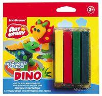 """Пластилин """"Dino. Step-by-step Сreation"""" (4 цвета)"""