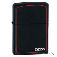 Зажигалка Zippo 218 ZB. With Zippo & Border. Black Matte