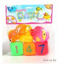 """Набор игрушек для купания """"Кубики с рыбками и уточкой"""" (6 шт.)"""