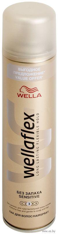 """Лак WELLAFLEX """"Без запаха"""" сильной фиксации (400 мл)"""
