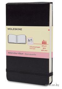 """Скетчбук для акварели Молескин """"Folio"""" (А4, твердая черная обложка)"""