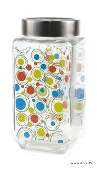 Банка для сыпучих продуктов стеклянная (1100 мл; арт. 66224S-2P)