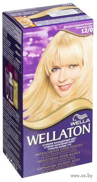 """Осветляющая крем-краска для волос WELLATON """"12/0-Светлый натуральный блондин"""""""