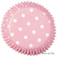 """Набор форм бумажных для выпекания кексов """"Розовый горох"""" (75 шт; арт. WLT-415-0150)"""