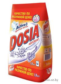 """Стиральный порошок для автоматической стирки DOSIA Active 3 """"Белый снег"""" (1,8 кг)"""