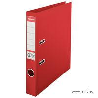 Папка-регистратор А4 с арочным механизмом, 50 мм (ПВХ, красная)