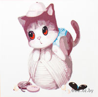 "Картина по номерам ""Котенок на клубке"" (250x250 мм; арт. MB060)"