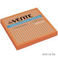 Стикеры (100 листов; 76х76 мм; неоновый оранжевый)