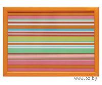 Поднос дерево/текстиль (50х36х6,5 см, арт. 314000470)