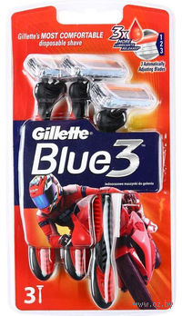Станок для бритья одноразовый Gillette BLUE 3 Red (3 шт)