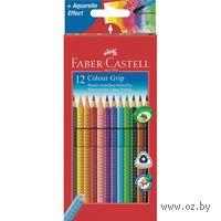 Цветные карандаши GRIP 2001 в картонной коробке (12 цветов)