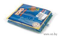 Набор губок для мытья посуды с абразивным покрытием TORO (3 шт, 15*15 см)