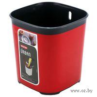 Сушилка для столовых приборов (гранит/красный металлик)