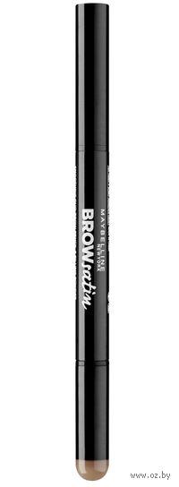 """Дуэт для бровей """"Brow Satin"""" (тон 02, коричневый; 7,1 г)"""