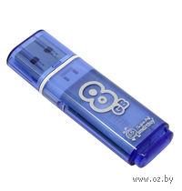 USB Flash Drive 8Gb SmartBuy Glossy series (Blue)