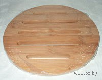 Подставка под горячее бамбуковая (17,5*17,5*1 см)