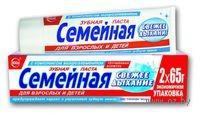 """Зубная паста """"Семейная"""" свежее дыхание (130 г)"""