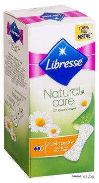 """Женские ежедневные прокладки Libresse Natural Care """"Normal"""" (20 шт)"""