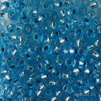 Бисер прозрачный с серебристым центром №08265 (голубой)