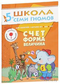 Счет, форма, величина. Для занятий с детьми от 5 до 6 лет. Дарья Денисова