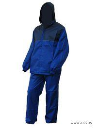 Костюм влаговетрозащитный (темно-синий/васильковый, размер 52, рост 182 см)