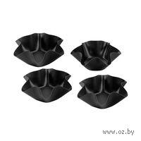 Набор форм для выпекания металлических с антипригарным покрытием, 4 шт (16,5 см)