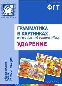 Грамматика в картинках для игр и занятий с детьми 3-7 лет. Ударение. Наглядно-дидактическое пособие