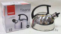 """Чайник металлический со свистком и пластмассовой ручкой """"Tisana"""" (1,5 л)"""