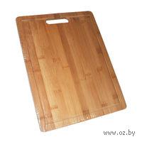 Доска разделочная бамбуковая (340х260х18 мм)