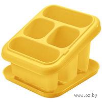 Подставка-корзина для столовых приборов пластмассовая с поддоном