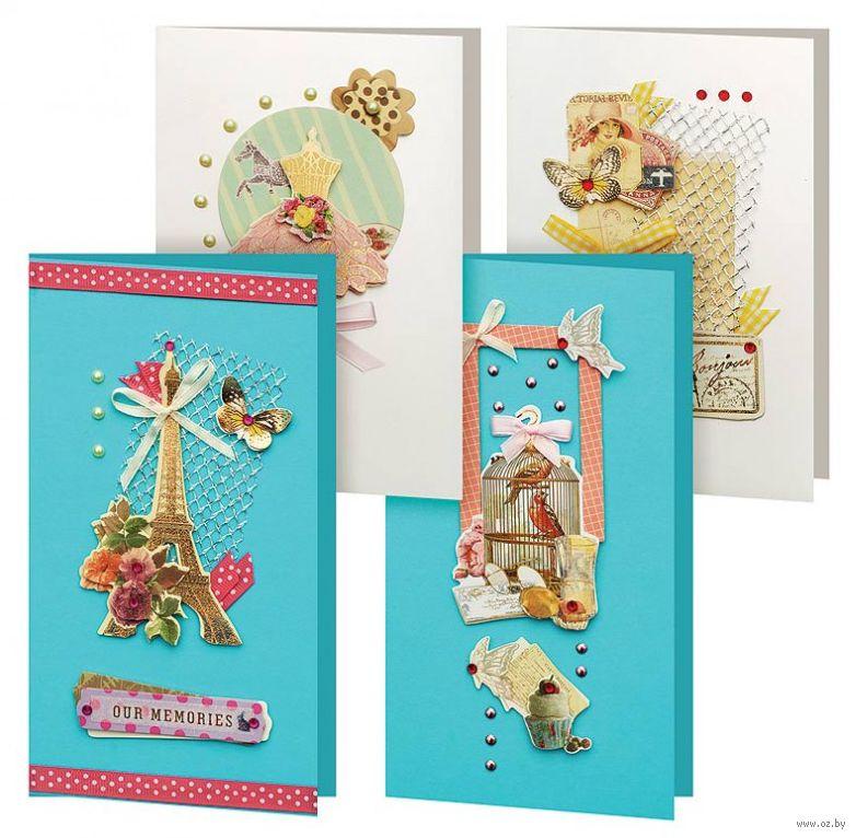 Набор для изготовления открытки клевер первые открытки