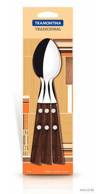 Набор ложек металлических с деревянными ручками (3 шт, 18,5 см, арт. 22203300)