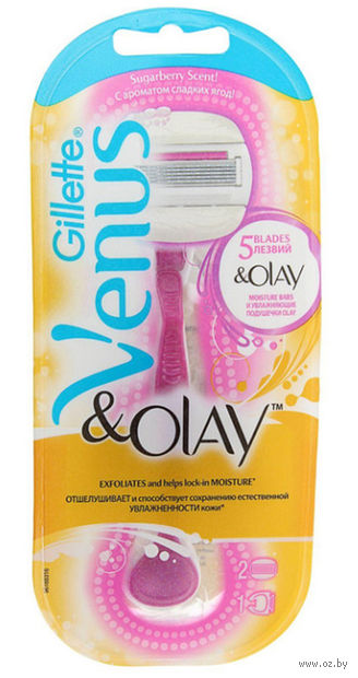 "Станок для бритья ""Venus. Olay Sugarberry"" (+2 кассеты)"