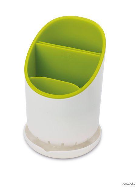 """Сушилка для столовых приборов """"Dock"""" (бело-зеленая) — фото, картинка"""
