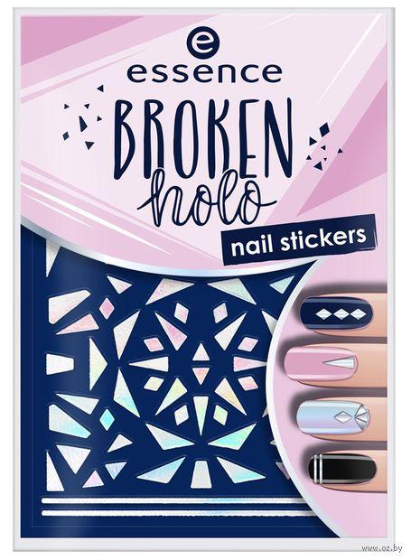 """Наклейки для дизайна ногтей """"Broken Holo"""" тон: 12 — фото, картинка"""
