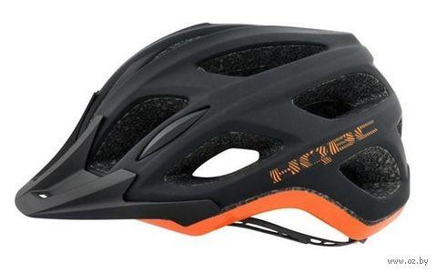 """Шлем велосипедный """"Shoq"""" (черно-оранжевый; р. S-M) — фото, картинка"""
