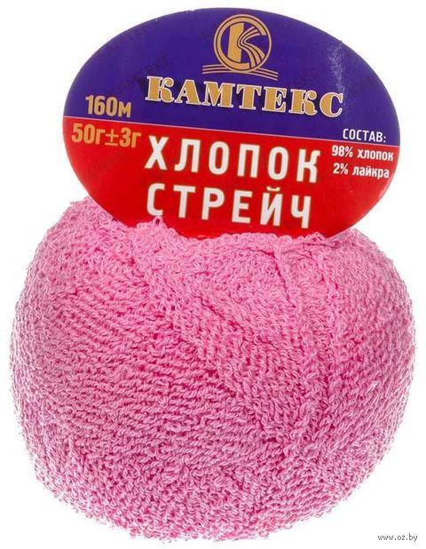 """Пряжа """"Камтекс. Хлопок стрейч №56"""" (50 г; 160 м; розовый) — фото, картинка"""