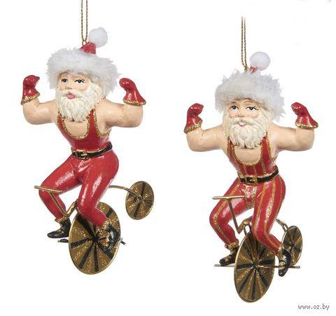 """Ёлочная игрушка """"Санта на велосипеде"""" — фото, картинка"""