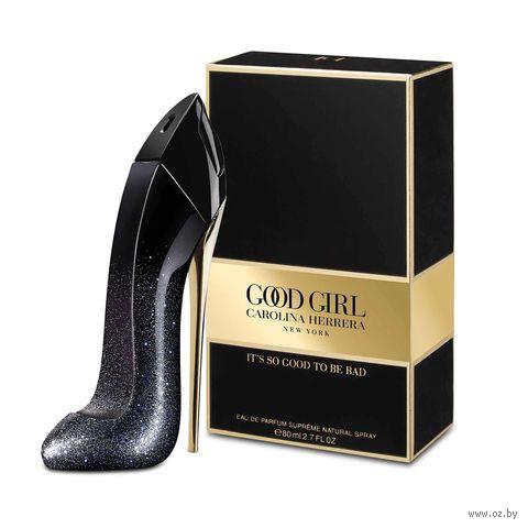 "Парфюмерная вода для женщин Carolina Herrera ""Good Girl Supreme"" (80 мл) — фото, картинка"