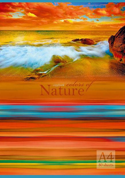 """Тетрадь в клетку """"Краски природы"""" (А4; 80 листов; арт. 1271)"""