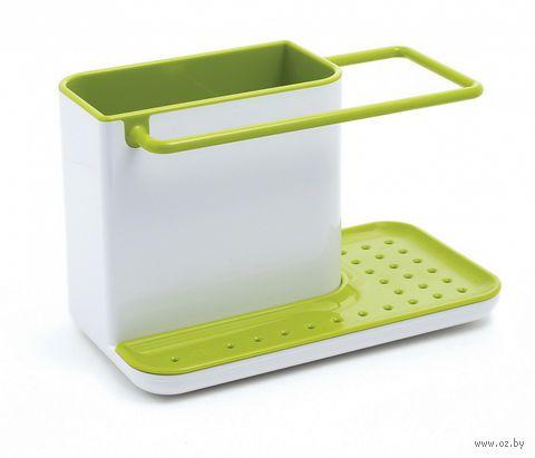 """Органайзер для раковины """"Caddy"""" (бело-зеленый) — фото, картинка"""