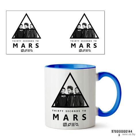 "Кружка ""30 seconds to mars"" (арт. 144, голубая)"