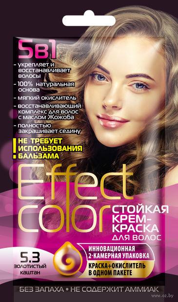 """Крем-краска для волос """"Effect Сolor"""" (тон: 5.3, золотистый каштан) — фото, картинка"""