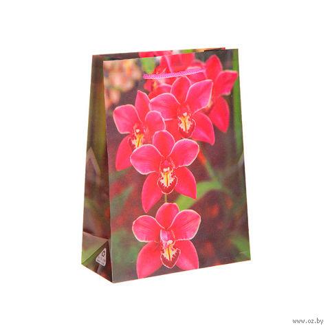 """Пакет пластиковый подарочный """"Орхидея"""" (17х13х5 см; арт. 10577025)"""