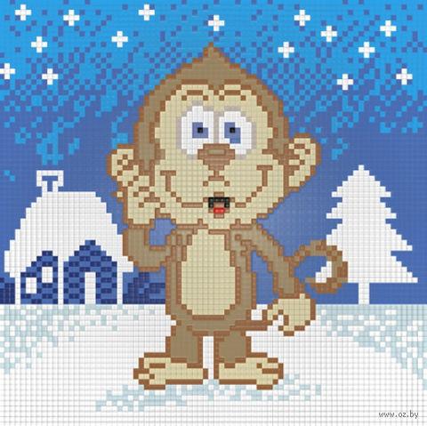 """Алмазная вышивка-мозаика """"Забавная обезьянка"""""""