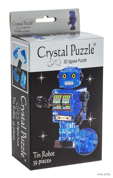 "Пазл-головоломка ""Crystal Puzzle. Робот cиний"" (39 элементов) — фото, картинка"