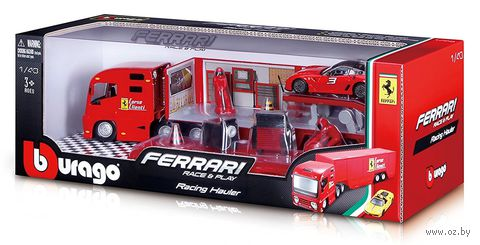 """Набор машинок """"Грузовик с автомобилем Ferrari"""" — фото, картинка"""